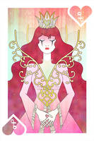 Playing Cards : Queen of Hearts by sophiaazhou