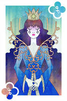 Playing Cards : Queen of Clubs by sophiaazhou
