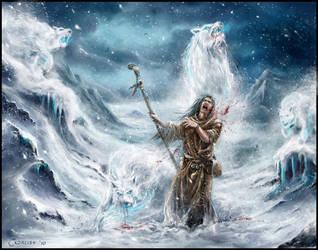 Wolf Blizzard by AlexanderExorcist