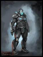 Sci Fi Armor sketch by AlexanderExorcist