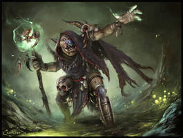 Goblin Warlock by AlexanderExorcist