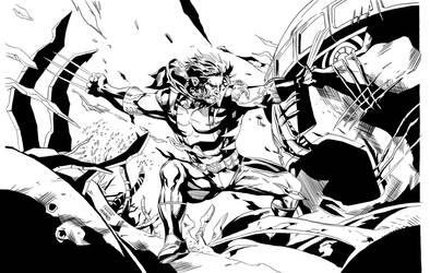 Inked Wolverine by TimJParker