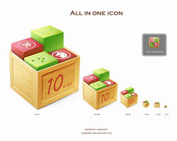 all in one icon design by jordanfc