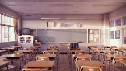 Classroom (Evening A) by iCephei