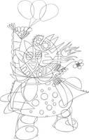 The Clown LineArt by zlajonja