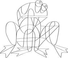 The Frogger LineArt by zlajonja