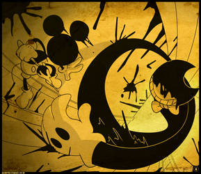 Mickey vs. Bendy by TheRealBlueFox
