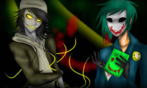 The Puppeteer and The Bloody Painter by Pierce-Reincarnated