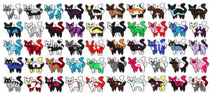 50 Cat Adoptables (OPEN) by TheToxicNotion
