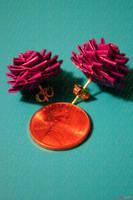 Duct tape stud earrings by lyssalove