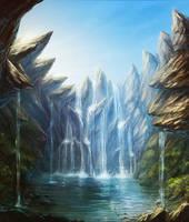 waterfall by AnekaShu