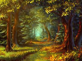 forest by AnekaShu