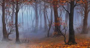 misty forest by AnekaShu