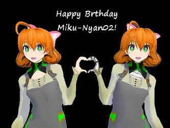Happy Birthday Miku-Nyan02! by SilverKazeNinja