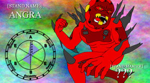 JJBA OC Stand - Angra by SilverKazeNinja