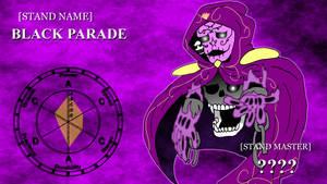 JJBA OC STAND COMM - BLACK PARADE by SilverKazeNinja
