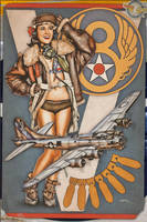 Aviation Pinup - B-17 Flying Fortress by warbirdphotographer