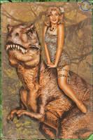 Pinups - Queen of all Dinosaurs by warbirdphotographer