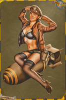 Pinups - Military in OD Green by warbirdphotographer