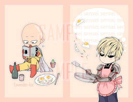 One punch man sketchbook by LavenderIced