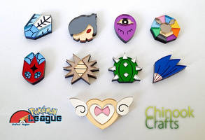 Otafest Pokemon Badges by ChinookCrafts