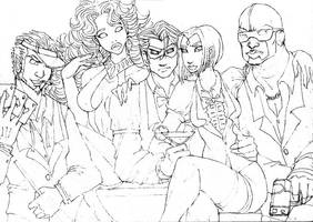 Teen Titans Undercover by harlequeenade