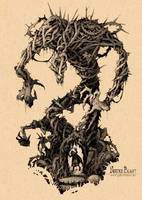 Dungeons and Dragons Monster I Needle Blight by gabrieldevue