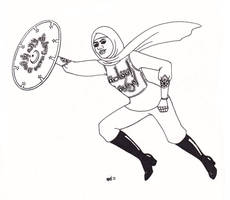 Hijabi Superhero by ElfceltRJL