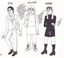 U.N. High School: U.K., Ireland, Russia by ElfceltRJL