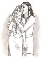 Loki and Sigyn by ElfceltRJL
