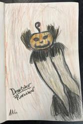 Drawtober 1: Pumpkinhead by Tazzykiki