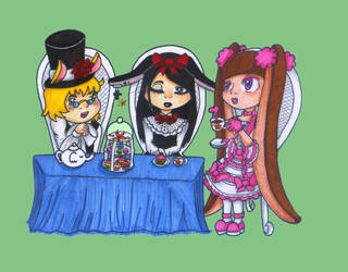 Tea Party of the Bunny Eared Lolitas by Daiminion