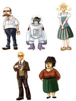 ROW - Personagens by rocketcica