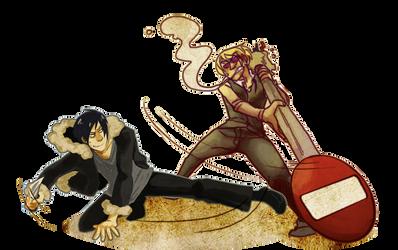 Ikebukuro fight by rocketcica