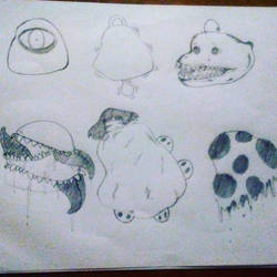 Blobs doodling by Cocothebear