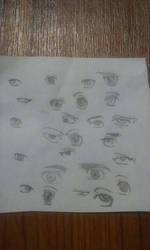 Eye doodles  by Cocothebear