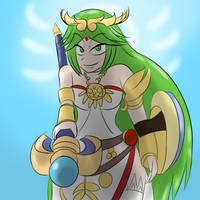 Palutena smash by MegaGundamMan