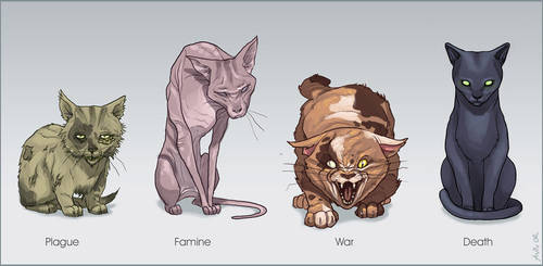 Cats of the Apocalypse by ChateNoire