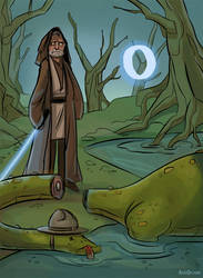 O for Obi-Wan and Ogopogo by ChateNoire