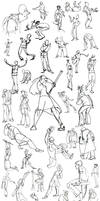 Gesture Drawings - Fall 2011 by HyraxAttax