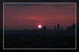 Sunset over Paris by sunnie
