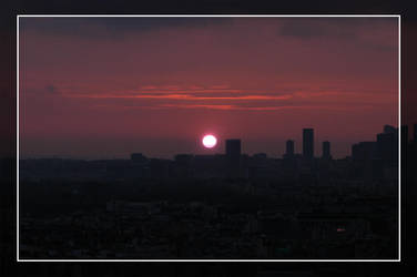 Sunset over Paris by sunnie