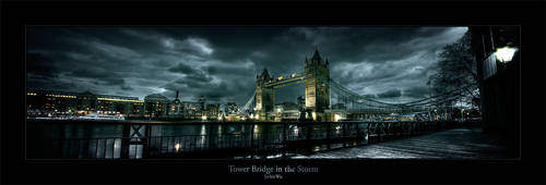 Tower Bridge in the Storm by geckokid