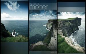 The Cliffs of Moher Triptych by geckokid