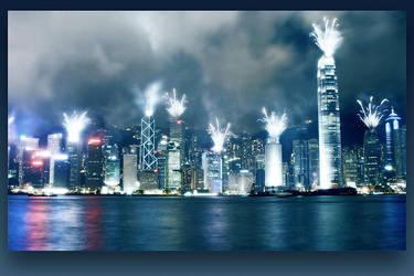 HK is burning by geckokid