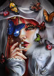 Butterfly Woman by Mutsumipat