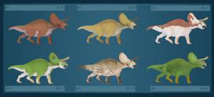 Adoptables - Triceratops by RRedolfi