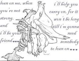 Lean On Me. . . bw version by RRedolfi