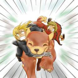 Spirit Dog Hijinx by p1stachi0jellyb3anz