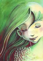 Green Mermaid by didizuka